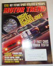 Motor Trend Magazine High Speed Shootout May 1997 012115R