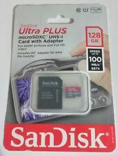 SanDisk Ultra Plus 128gb microSDXC SDXC SD Card BNIBS