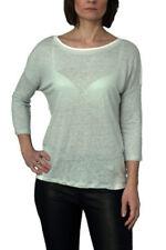 Leinene Damen-T-Shirts in Größe 40