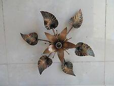 Plafoniera LAMPADARIO IN FERRO BATTUTO con giglio diam 43 cm