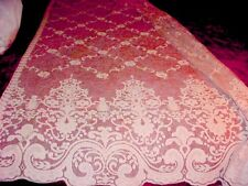 NEW!~PAIR~GORGEOUS~LACE~NETTING~CURTAINS~SHABBY~CHIC~VINTAGE~PINK~EACH~87L x 54W