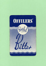 Single Playing Card.  Offilers' Bottled Bitter. Derby brewery