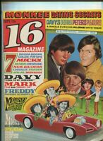 16 Magazine Sept. 1967 Herman Hermits,Monkees,Nitty Gritty Dirt Band, MBX25