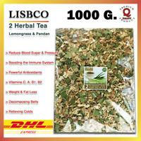 1000g Lemongrass Pandan Tea Pure Thai Herbal Healthy Drink