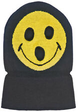 J14 - Volcom Smile Mask / Hat / Beanie * NWT Mens Black  / Yellow - #24309