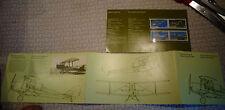 Carte Illustrée Aviation et 4 Timbres Avions Canadiens Entrainement Canadair....