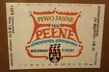 OLD POLISH BEER LABEL, BROWAR TYCHY POLAND, PENNE