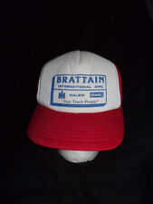 Vintage Brattain International Trucker Hat Mesh Back Snap Back Foam Inside Euc