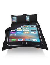 IPHONE MOBILE SMARTPHONE QUILT DUVET COVER PILLOWCASE BEDDING BED LINEN SET
