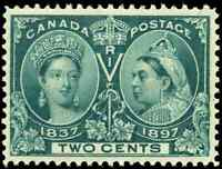 Canada #52 mint VF OG NH 1897 Queen Victoria 2c green Diamond Jubilee