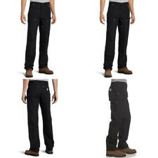 Carhartt Men's Firm Duck Double-Front Work Dungaree Pant - 32W x 30L - Black
