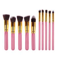 Pro 10pcs Makeup Brushes Set Powder Foundation Eyeshadow Eyeliner Lip Brush kits