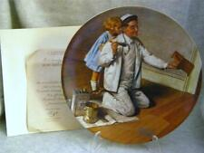 Knowles / Bradford Exchange / The Painter By Norman Rockwell Plate
