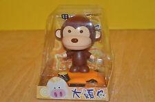 New Rare Solar Power ECO Orcara Monkey Bear Nodder Toy Batteryless Vintage NOS