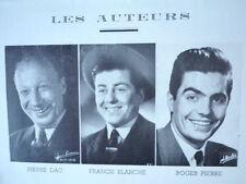 Programme Théâtre A.B.C. Autre chose. 1952. Pierre Dac, Francis Blanche