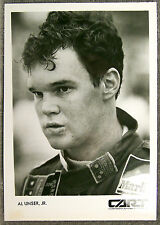 BLACK & WHITE PHOTO ~ AL UNSER JR ~ CART