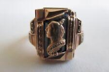 10K Gold Irondequoit High School Blue Glass Ring BASTIAN 1958, 6.1 grams Size 5