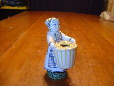Vintage Denmark Aluminia Copenhagen Figurine Candle Holder