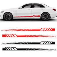 Auto Car Body Stripe Stickers Decals Side Skirt Vinyl Racing Car Long Stripe DIY