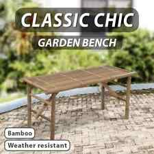 vidaXL Bamboo Folding Bench Outdoor Garden Patio Park Furniture Seat Chair
