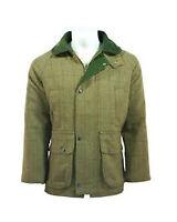 Mens Tweed Derby Warm Wool Jacket Camping Fishing Shooting Hunting Small - 2XL