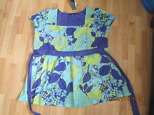 Atmosphere Aqua Floral Patterned Top Size 18-BNWT
