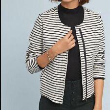 Dolan Left Coast Brushed Fleece Moto Jacket XL Anthropologie Stripes Womens