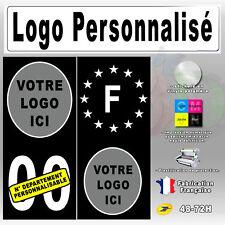 Stickers Plaque d'immatriculations Noir Auto Moto Caravane No Personnalisable