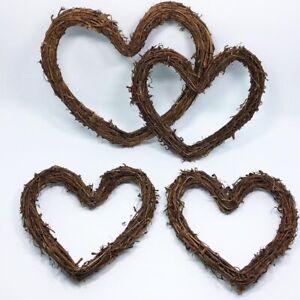 Dried Rattan Wreath  Door Wall DIY Decor Ornament Creative Heart Crafts