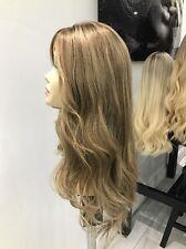 Yaffa Wigs Ready To Wear Human Hair Ashy Brown Dark Blonde Wig