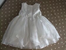 BABY GIRLS AGE 18-23 MONTHS WHITE FORMAL PARTY DRESS Summer Smart Winter Frilly