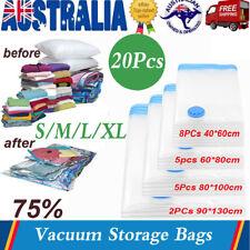 20x Vacuum Storage Bags Compressed Cloth Organiser Vaccum Bag S M L XL