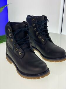 Timberland Womens Boots 6 Inch Premium Navy Leather Work Anti Fatigue Ankle