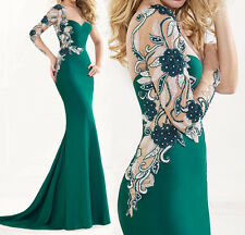 Sexy Long Mermaid Cocktail Evening Formal Party Prom Gown Bridesmaid Dress