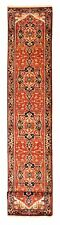 """Hand-knotted Carpet 2'7"""" x 20'1"""" Bordered, Geometric, Traditional Wool Rug"""
