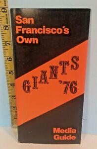 1976 San Francisco Giants Baseball Media Guide