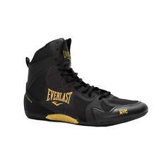 Everlast Mens Ultimate Pro Shoes Black Gold Boxing Sports Boots ELM-94E