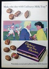 CADBURY'S CADBURY MILK TRAY CHOCOLATES FOOTBALL SCENE 1950s MAGAZINE ADVERT 1957