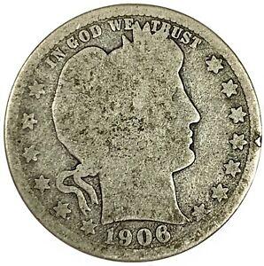 1906-D United States Silver Barber Quarter - G