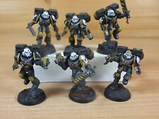 6 FORGEWORLD SPACE MARINE RED SCORPIONS VANGUARDS WELL PAINTED (4124)