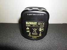 Batería original 12,0 voltios 2,4 ah NiMH DeWalt de9501. cambio de 2,6 a 2,4ah