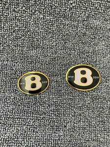 Bentley Continental GT GTC&Flying Spur Rear+Front Grill 100 Year Gold Badge Set