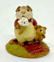 """Wee Forest Folk 1983 M-100 """"Mousey's Cone"""" Figurine Signed """"WP"""""""