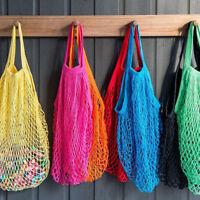1Pc Reusable String Shopping Grocery Bag Shopper Cotton Mesh Net Woven Mesh EN
