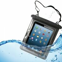 NEW WATERPROOF CASE UNDERWATER SAFE TRANSPARENT BAG POUCH WITH TOUCH for TABLETS