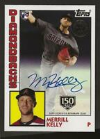 2019 Topps Update MERRILL KELLY 1984 Topps Auto 150th 022/150 Autograph D'Backs