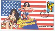 JVC CACHETS -2016 WONDER WOMAN COVER #4 FIRST DAY COVERS FDC SUPER HERO COMICS