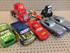 Disney Pixar Cars Mixed Die Cast & Plastic Car Lot~ 8 Pc Lot~