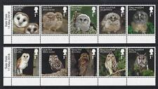 GREAT BRITAIN 2018 OWLS SET OF 2 SALE DATE STRIPS UNMOUNTED MINT,MNH