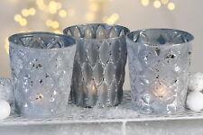 CASABLANCA Decoración de navidad - 3er Set Velas Portavelas Cristal decorativo